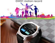 Ulefone gw01 smart watch bluetooth 4,0 smartwatch pulsmesser für Android 4.3 iOS 7 IPS Runde Bildschirm Leben Wasser beständig