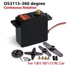 2 pçs frete grátis padrão servo alto torque padrão digital servo ds3115 diy para rc carro robô