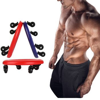 Abdominal Exercise Plate Muscle Training Ab Roller Wheel Workout Toning Back Arms Waist Exercise Home Gym Fitness Equipment Disc manila hemp 1pc 5cmx12meter 2 x 40ft battle rope exercise batting ropes gym muscle toning metabolic workout
