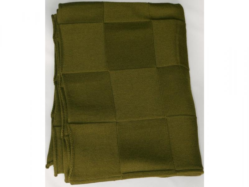 Plaid knitted Square (khaki) comfortable knitted square plaid floral hollowed sofa blanket