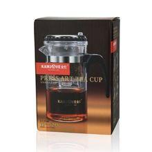 [GRANDNESS] TP-120 Kamjove Art чайная чашка* кружка и чайник 200 стеклянный чайник пресс авто-Открытый Цветочный чайник удобный офисный горшок