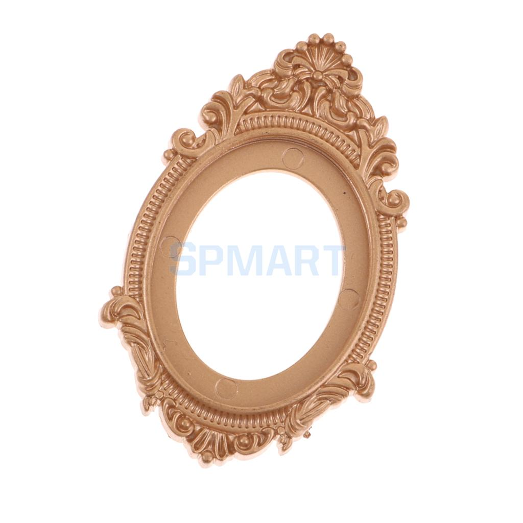 Dollhouse Miniature Economy Oval Wall Mirror