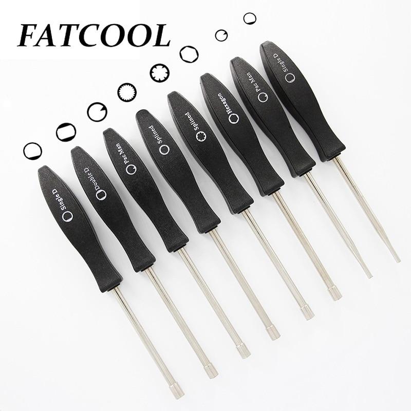 FATCOOL NEW 1Pcs Single D Double D Splined7 Splined21 PacMan Hexagon Screwdriver Multi-purpose 6.2mm Multiple Shapes Screwdriver