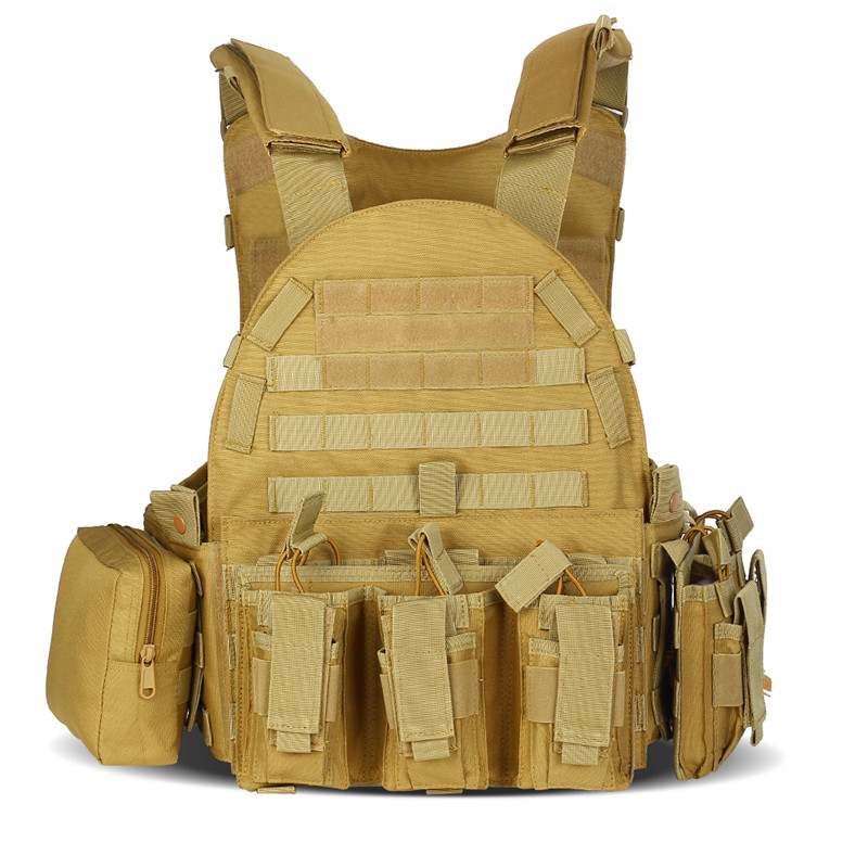 Tactical Hunting Vest Molle Combat Assault Waistcoat With Pouch Airsoft Military Shooting Protection Vest Outdoor Equipment Man tactical military vest combat hunting vest outdoor molle armor airsoft assault shooting camouflage vest with gun holster
