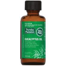 Thursday Plantation Eucalyptus Oil 100% Pure 100ml relieves cold flu symptoms mild arthritic muscular aches pains Massage oil