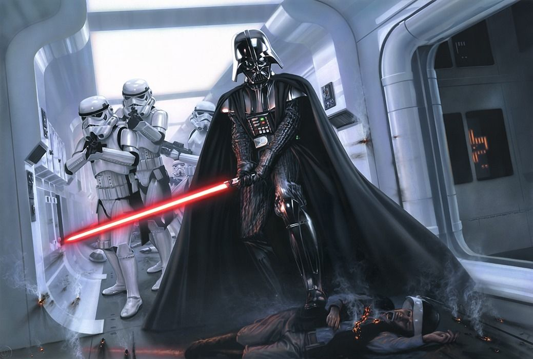 Darth Vader Star Wars Game Fabric poster 36 x 24 Decor 01 ...