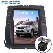 Android 7,1 автомобиля gps навигации DVD плеер для Toyota Land Cruiser Prado 120 2002-2009/Lexus GX470 Tesla Стиль 10,4 «ips Экран