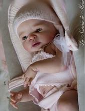 Lifelike Soft Vinyl Reborn Doll Kits 22 inch Full Vinyl Body Newborn Girl and Boy Baby Doll kits Doll Parts