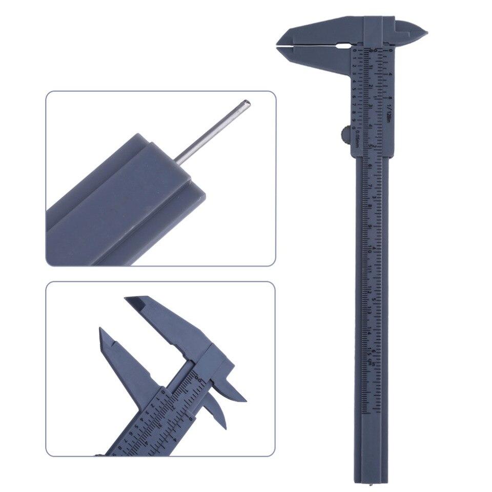 Plastic Ruler Jewelry Measuring Sliding Gauge Vernier Caliper 6 Inch 150mm BP