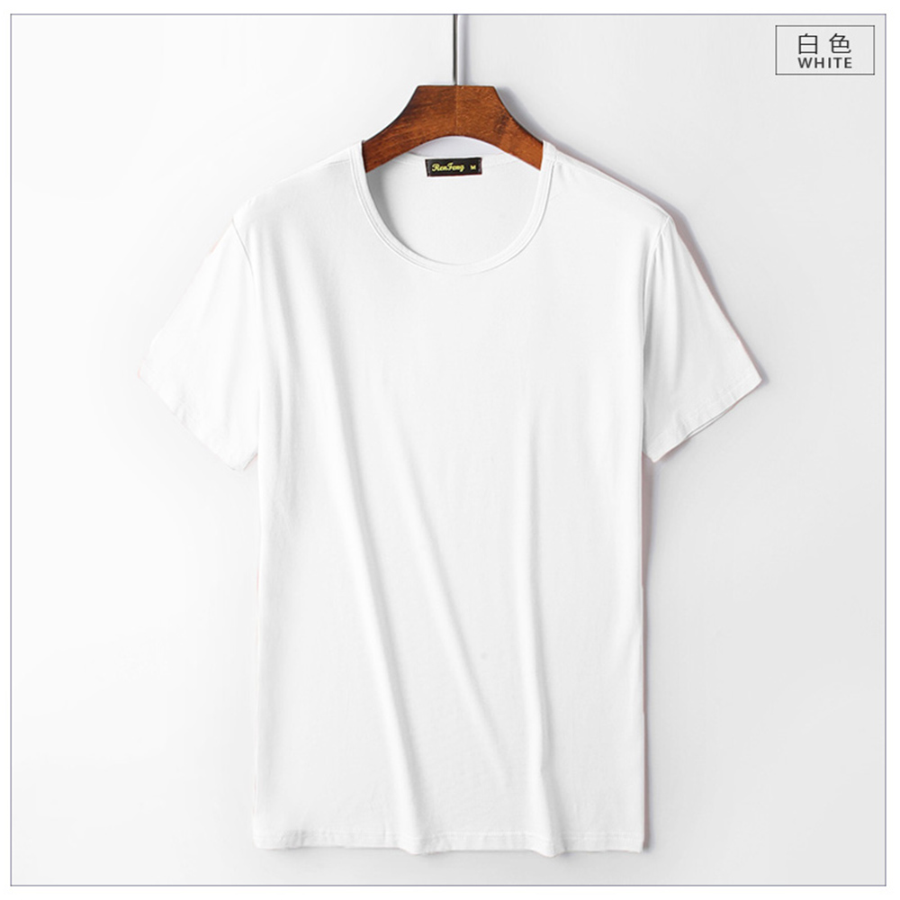 Smooth soft Modal cotton Men's Solid Color t-shirt O-Neck Short Sleeve T shirt men casual t-shirts Summer breathable tshirts top (2)