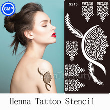 1pc Reusable Airbrush Temporary Tattoo Stencil For Body Painting Henna Stencils Designs Art Template Indian Arabic Bride S213