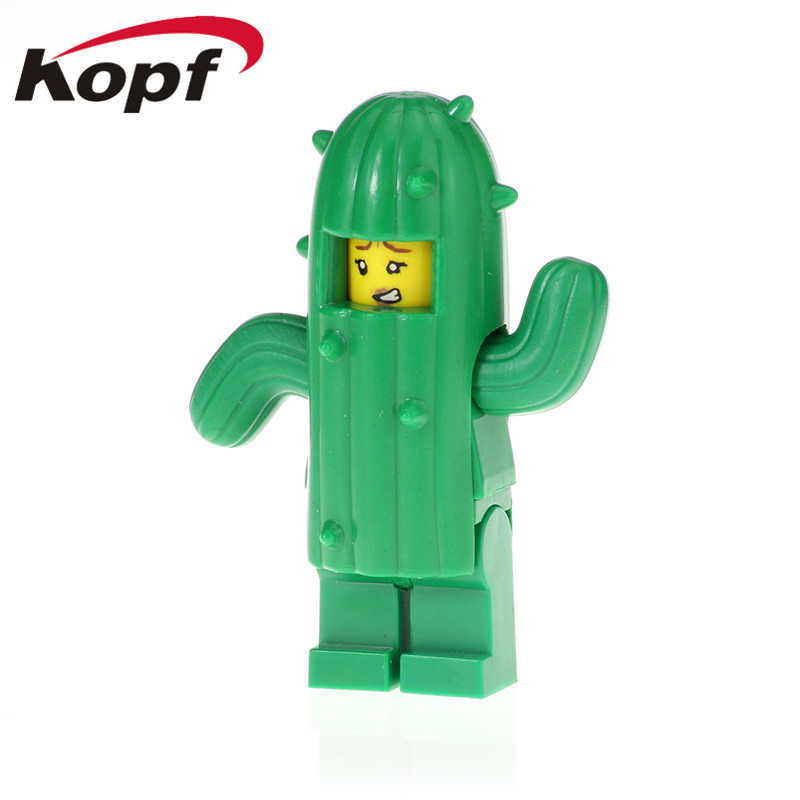 PG1250 Single Sale Building Blocks Cactus Girl Fireworks Boy Cowboy Costumes Pumping Series Doll Figures Toys For Children Gifts