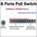 Горячая продажа! 8 POE + 3 ЛОКАЛЬНОЙ СЕТИ Fast Ethernet 100 Мбит стандарт plug & play IEEE802.3af/at питания кабель Ethernet защитить PD горения