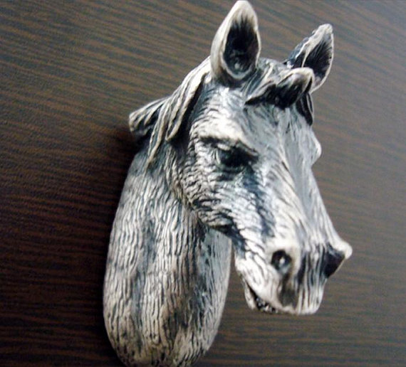 Horse Drawer Knobs Antique Silver Animal Cabinet Knobs Dresser Knobs Drawer  Pull Handles Pulls Handle Unique