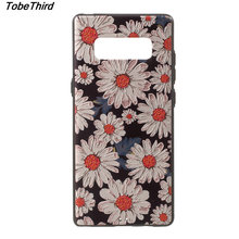 Tobethird For Samsung Note 8 Case Embossed Printing Pattern TPU Mobile Back Cover Case Accessory for Samsung Galaxy Note 8
