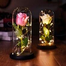 Красавица и Чудовище Роза, Роза в стеклянном куполе, forever rose, красная роза, сохраненная Роза, Belle Rose, специальный романтический подарок