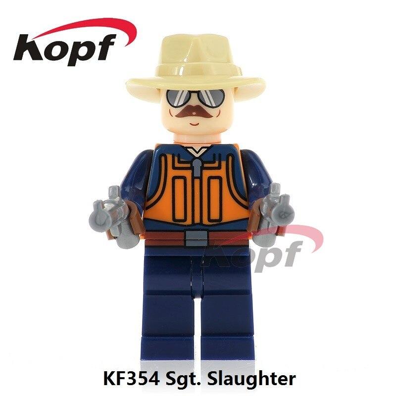 Single Sale Super Heroes Gi Joe Series Sgt. Slaughter Power Girl Snake Eyes Mumm-Ra Building Blocks Toys for children Gift KF354