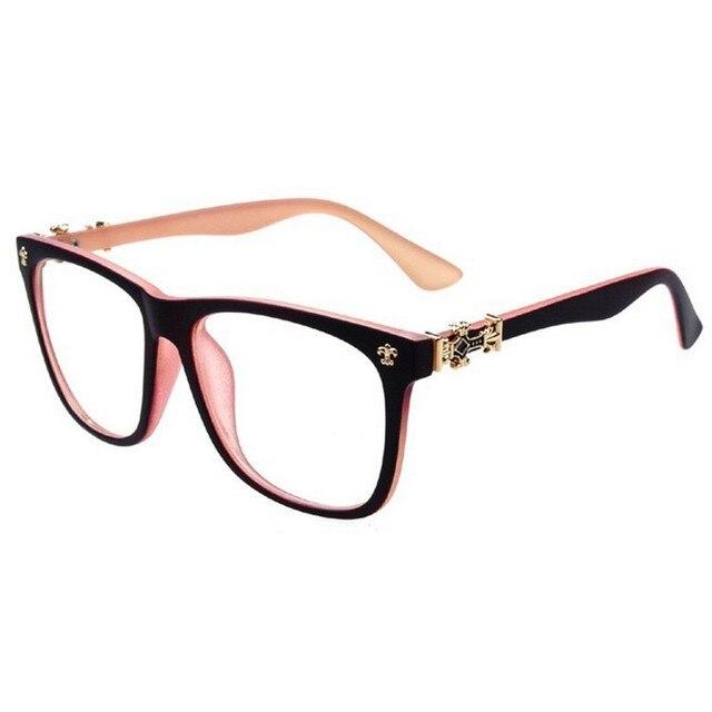cb15ef3b0 Nova Marca de Óculos de Leitura Das Mulheres Dos Homens Clássico Cruz  Coração Computador Óculos Para