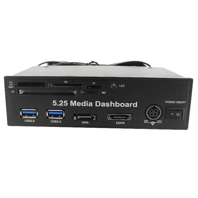 """Mecall 5.25 """"PC media painel PCI-E porto HUB USB 3.0 tudo em um Leitor de Cartão"""