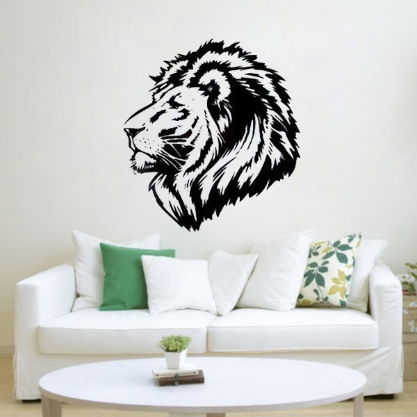 Large Lion Wall Stickers For Bedroom Living Room Decoration Mural Say Quote Word Lettering Diy Art Vinyl Decal Home Decor Words In From
