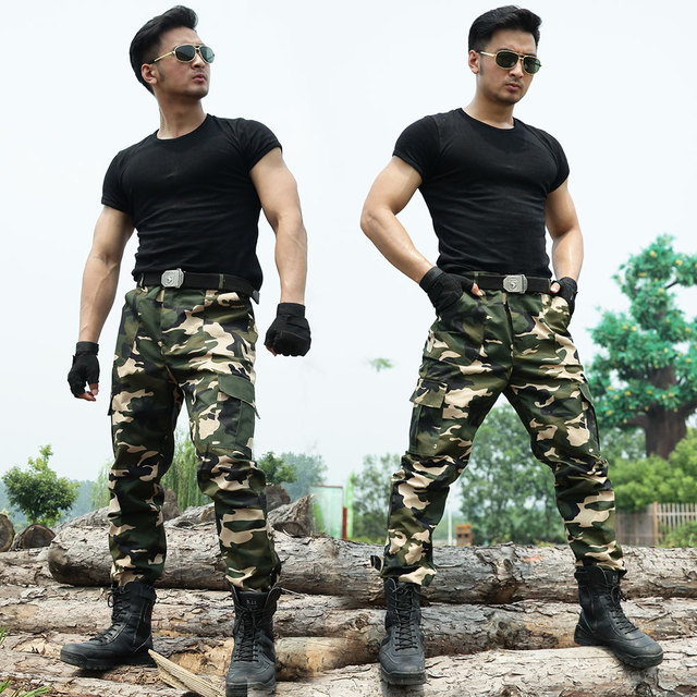 2016 Army Military Tactical Cargo Pants Camouflage Trousers Pantalon Homme Sweat Pants Working TrainingHigh Quality  Mens Pants