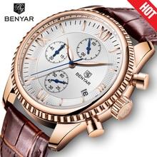 NEW BENYAR Men's Watches Fashion Sport Waterproof Quartz Watch Men Wristwatch Male Clock Top Brand Luxury Gold Relogio Masculino все цены