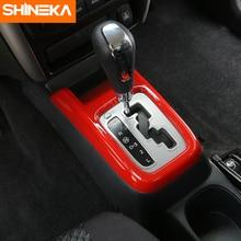 SHINEKA ABS Car Interior Gear Shift Panel Decoration Cover Transfer Trim Stickers For Suzuki Jimny 2007+ Styling