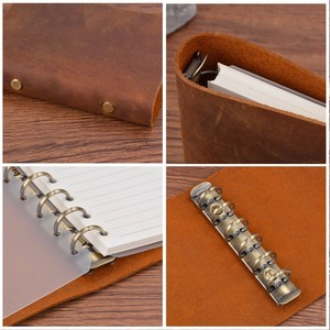 Image 5 - Hot Sale Classic Business Notebook A7 Genuine Leather Cover Loose Leaf Notebook Diary Travel Journal Sketchbook Planner