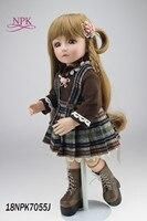NPK boneca reborn doll BJD doll handmade lifelike doll beautiful and moving doll for children Birthday gift