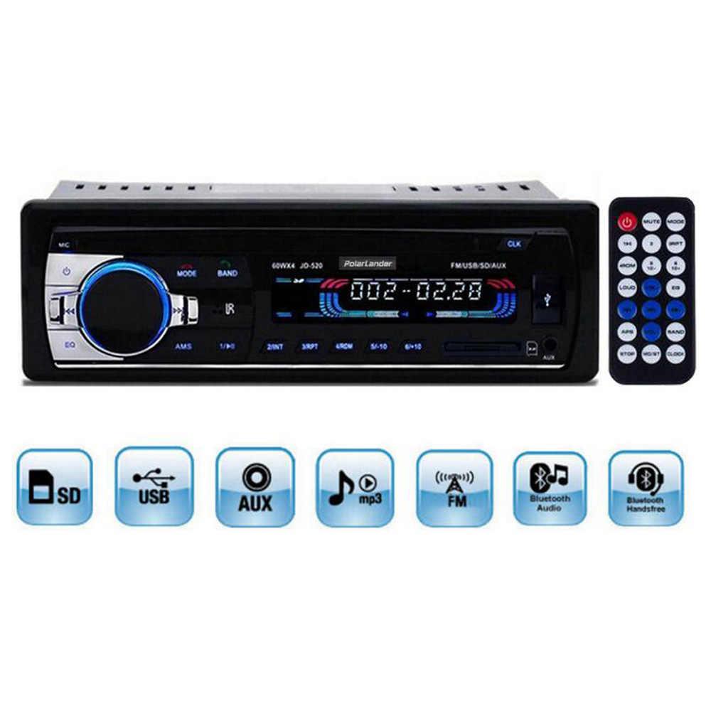 Nouveau 12V autoradio Audio stéréo Bluetooth lecteur MP3 USB SD AUX dans le Port électronique dans le tableau de bord 1 DIN télécommande Style libre