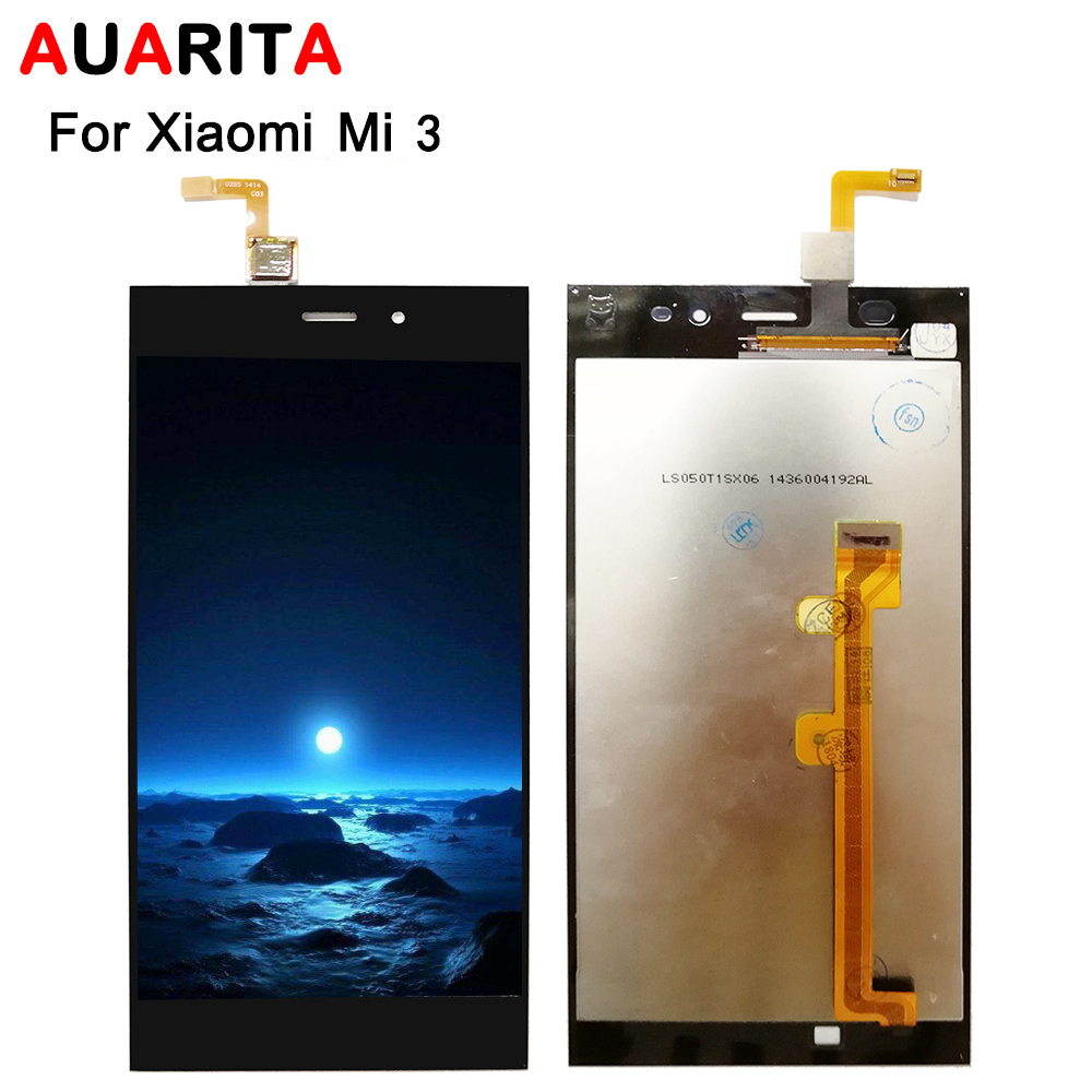 lcd with frame For <font><b>XiaoMi</b></font> 3 for <font><b>xiaomi</b></font> mi 3 <font><b>mi3</b></font> xiaomi3 LCD <font><b>Display</b></font> Touch panel Screen Digitizer Assembly cell Phone replacement image