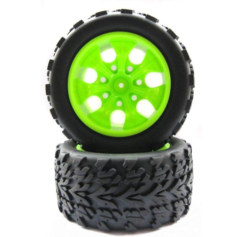 4PCS 115mm Diameter Black Rubber Tire Simulation Climbing Wheel Tyre Grip Tires for HSP 1:10 RC Car 94111 94188 94108 Modified
