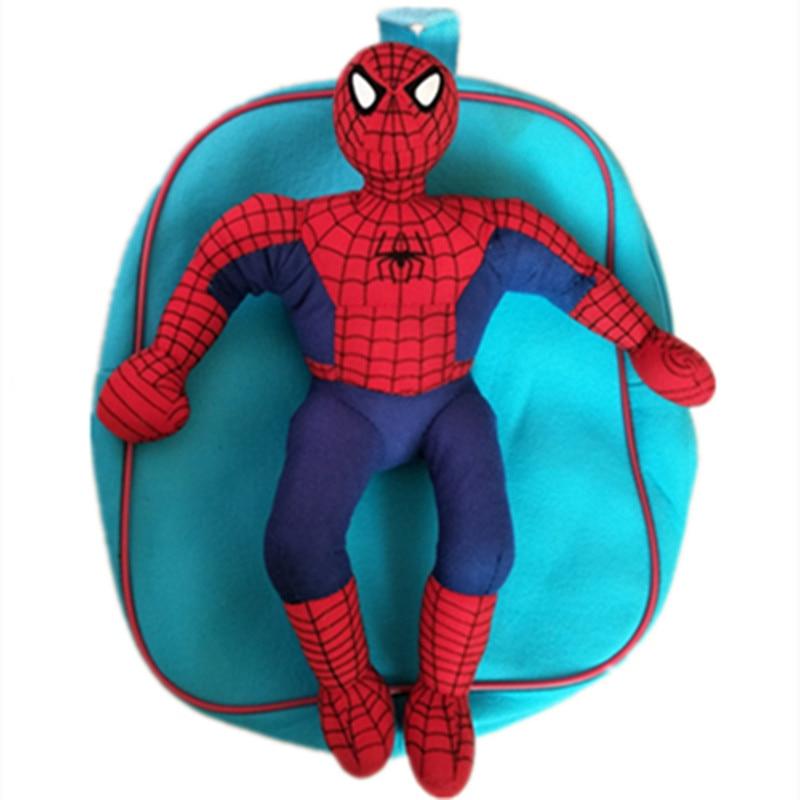 Cartoon Big Hero Super Hero Spider man School bag Child Kid teenager backpack Plush winter warm Knitting Beanies caps hats