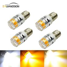 цена на 2W COB E10 LED Flashlight Bulb Lamp 3V 6V 12V Led Bulb Replacement Flashlight Warm White/White/Yellow Torch bulb 3V Screw bulb