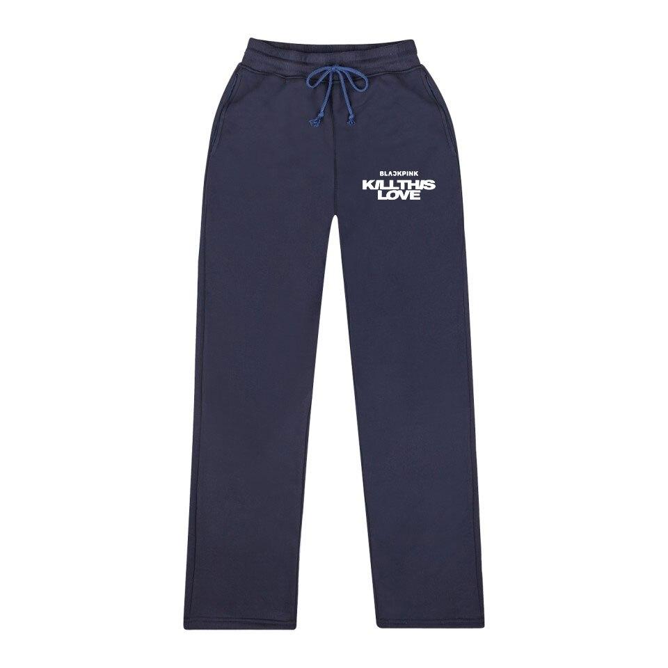 Blackpink Korea Pants Hot Sale Kpop Men/Women Clohtes 2019 Sweatpants Creative Wide Leg Pants Cool Pants 4XL