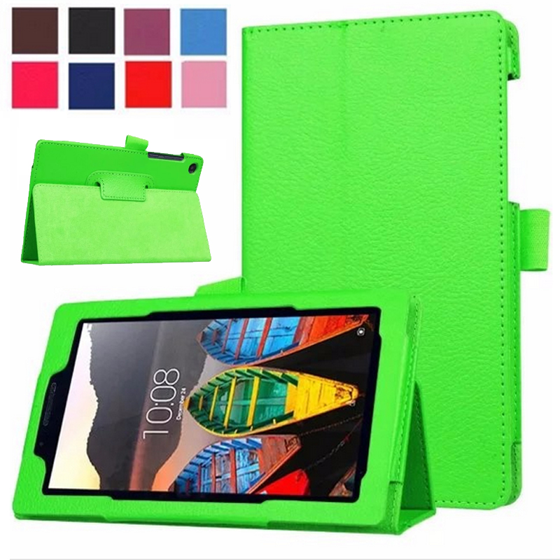 New For Lenovo Tab 3 730 Case Slim Bracket Stand PU Leather Case For Lenovo Tab 3 730 730F 730M 730X Tablet Case Not For 710