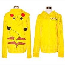 2016 Anime Pokemon Go Clothing  Hoodies Women Casual Long Sleeve Hooded Pikachu Hoodie Sweatshirts Poleron Mujer Sudadera