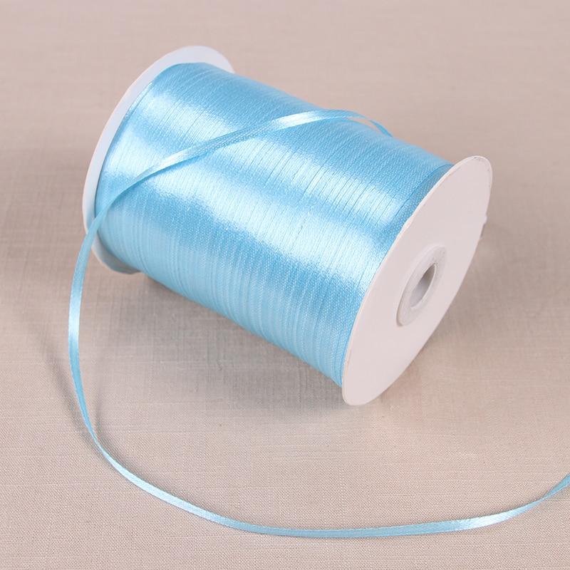 22 м/лот 3 мм атласные ленты для свадьбы День рождения коробка шоколадных конфет подарочная упаковка ленты Рождество Хэллоуин Декор - Цвет: Светло-голубой