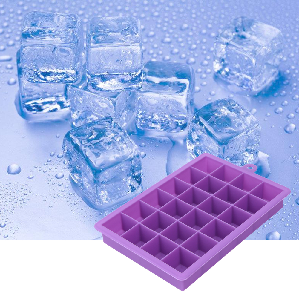 DIY Creative Large Silicone Ice Mold Bricka Square Shape Ice Mold Frukt Ice Cream Maker Bar Köksartiklar Forma De Gelo