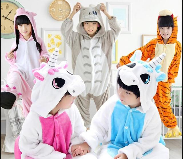 Kigurumi uniconr медведь ребенок мультфильм животных комбинезоны пижамы  динозавр панда Пикачу Детская Пижама свинья панда Китти a4c273f52801c