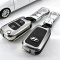 Tipo plegable Para Hyundai VERNA Elantra IX35 Sonata8 Grandeza SportAGE Veloster proteger shell Para la caja dominante DEL COCHE Cubierta de La llave