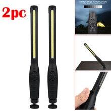 2pcs flashlight Rechargeable COB LED Slim Work Light Lamp Flashlight Multifunction lampe frontale linternas 2019 High Quality