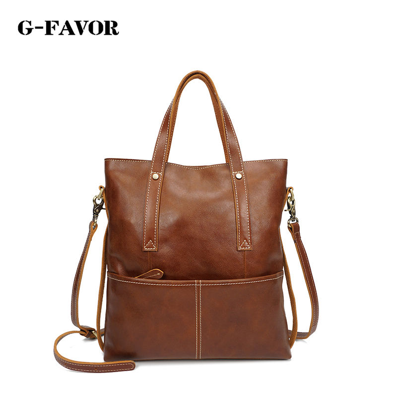 All-match Unisex Vintage Genuine Leather Ladies Large Handbag Casual Style Female Flap Pocket Handbag Women Single Shoulder Bag