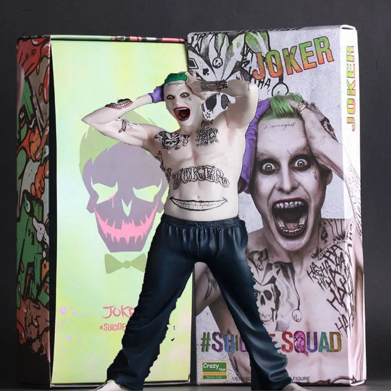 ФОТО  Suicide Squad Joker Action Figure PVC Doll Anime Collectible Model Toy 26cm