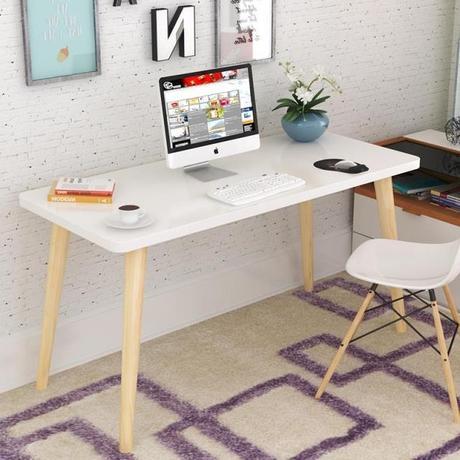 Computer Desks Laptop Stand Office Home Furniture Solid Wood Notebook Desk  Soporte Notebook 100/120/140*50*75cm Study Table  In Laptop Desks From  Furniture ...