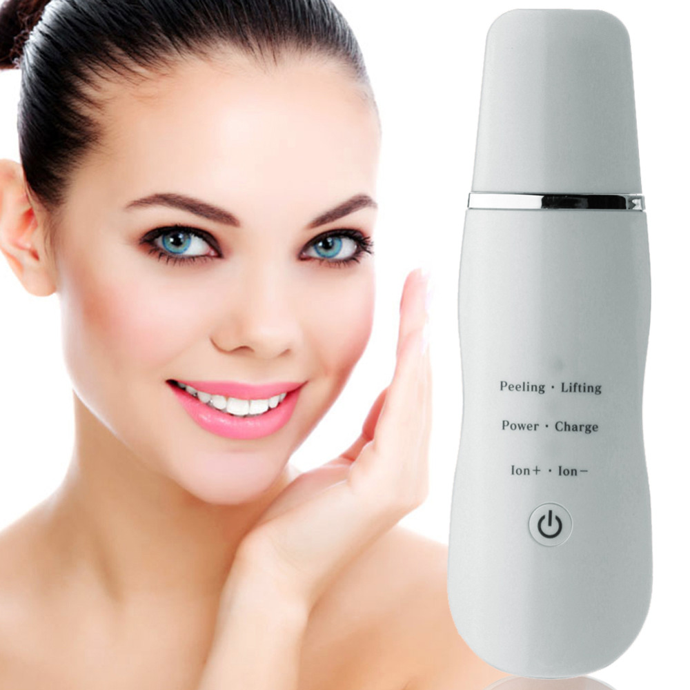 Ultrasonic Skin Scrubber Rechargeable Facial Peeling Vibration Massager Dead Skin Exfoliating Cleaner Face Skin Beauty Device