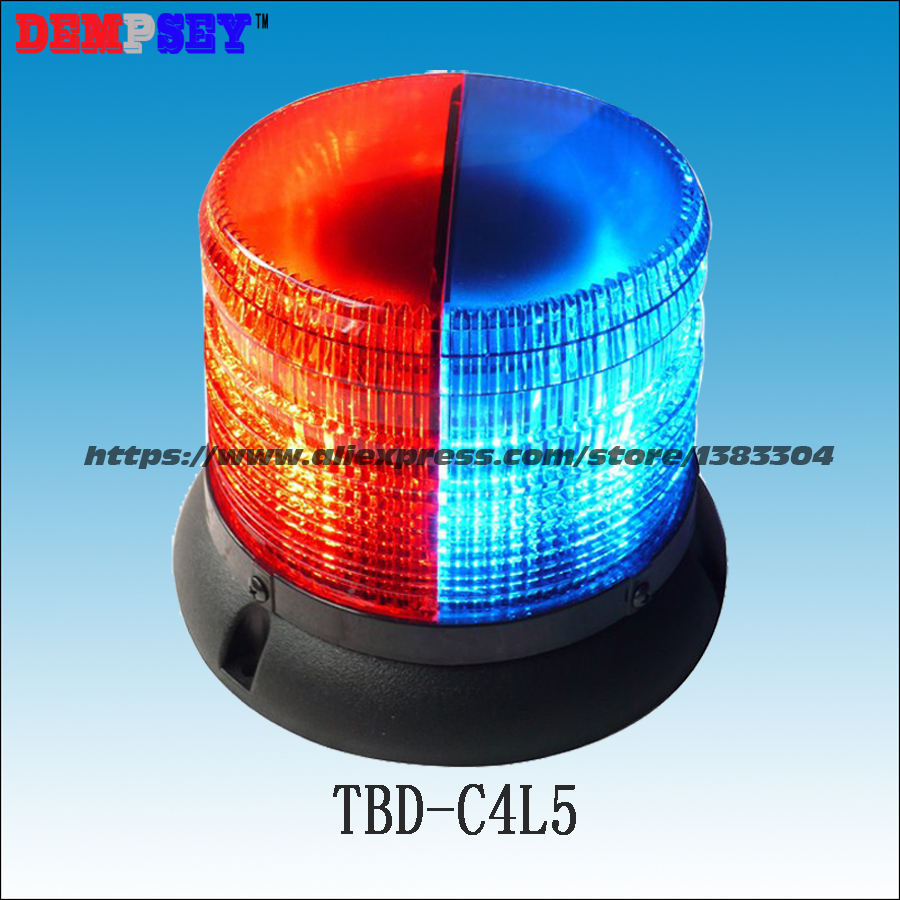 TBD-C4L5 High-quality Round emergency Warning Light, police/fire engines Vehicle Roof Top Red&Blue LED strobe Warning Light ltd 5071 dc12v warning light emergency strobe light warning light