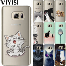 VIYISI Phone Case For Samsung Galaxy J7 J5 J3 A3 A5 2015 2016 2017 S6 S7 Edge S8 S9 Plus Coque Animal Cat Etiu Fundas Capas Cell