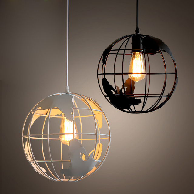 Nice Modern Globe Pendant Lights Black/White Color Pendant Lamps For  Bar/Restaurant Hollow Ball