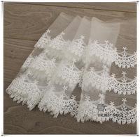 Duplo três camadas de neve boneca Saia de renda líquida bordado acessórios DIY manual do material do vestido de casamento todos os pós livre